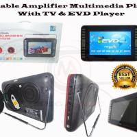 "Portable DVD Player 9.8"" (Bluetooth + Tv Tuner + Radio + Berkualitas"