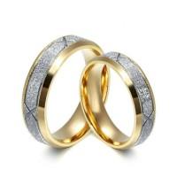 Cincin Couple Pasir Putih Titanium