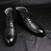 Sepatu boot kulit pria Model Pedro (Bally/adidas/nike/converse/boots