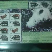 FILATELI Mini Sheet Seri WWF (Badak Sumatra)
