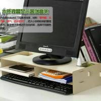 desktop Storage computer Rack portable rak laci meja Komputer keyboard