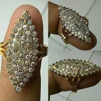 Cincin Berlian Eropa Markis/oval