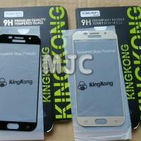 KINGKONG Samsung A5 2017 Full Cover Black Gold White Tempered Glass