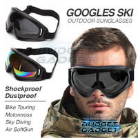 Motorcycle Dustproof Ski Goggles Glasses Anti Static Shock Ski Sport