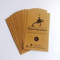 HangTag Label Produk Ukuran Kertas 4 X 7 cm Bahan Linen