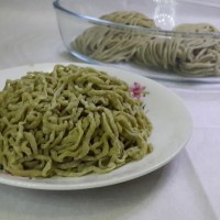 Jual Mie Segar Teh Hijau / Matcha Fresh Noodle / Green Tea Fresh Noodle Murah