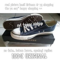 sepatu converse low basic navy original
