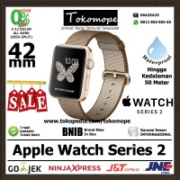 harga [promo] Apple Watch Series 2 42mm Caramel Coffe / Gold Woven Nylon Tokopedia.com