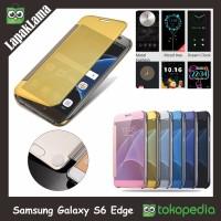 Flip Cover Mirror Samsung Galaxy S6 Edge FlipCase Hard Flip Case Cover