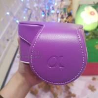 Casing Camera Sony A5000 / A5100 Leather Case Biru Ungu Pink