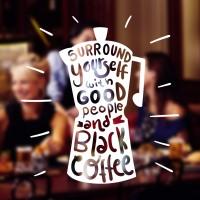 Cutting Sticker Quotes Coffee Cafe Resto Stiker Kaca Dinding Kafe Kopi