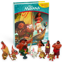 Moana My busy book Moana includes 12 figurines , a play mat and story