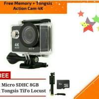 Action Camera 4K 16mp Wifi Free tongsis dan MMC 8GB