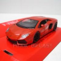 Miniatur Mobil Lamborghini Aventador Merah - Diecast Welly 1:36