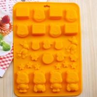 Jual Cetakan silikon coklat es puding silicone karakter Winnie The Pooh Murah