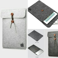 Jual TAS LAPTOP SLEEVE CASE FELT MACBOOK PRO AIR RETINA IPAD 11 12 13 INCH Murah