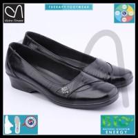 Jual sepatu pantofel wanita formal kulit resmi low heels kantor kerja cewek Murah
