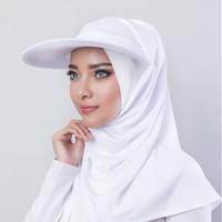 Hijab Topi Sport Traveller WHITE