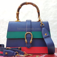 PROMO Gucci Bamboo Mirror Quality Hand Bag / Tas Pesta / Kerja Branded