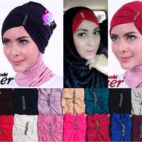 Jilbab syari / Hijab terbaru Swarovski Inner / Ciput Arab Swarovski