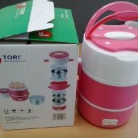 TORI TLB-111 Lunch Box Rice Cooker / Penanak Nasi serbaguna- pink
