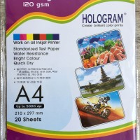 Glossy sticker paper-kertas stiker photo inkjet A4 120 gsm (isi 20)