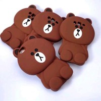 Silicon 3D Teddy Brown Line Oppo Neo 5 Casing Hp