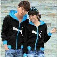 Jaket Couple Cool Puma Hitam / Jaket Murah / Grosir Jaket