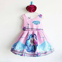 baju pesta anak frozen /dress anak frozen disney