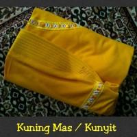 jilbab instan serut anak sekolah Size M bahan kaos PE Kuning Mas