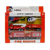 Tata Toys Set Mobil-mobilan Pemadam Kebakaran Fire Rescue 666-8