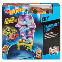 Hot Wheels City Deadmans Curve Track Set