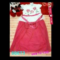 dress aliza kids terbaru tutu bunga mawar pink cerah murah bagus