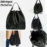 Tas Handbag Zara Drawstring Bucket Shoulder Sling Bag Import Murah
