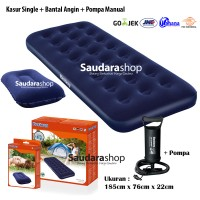 Paket Murah Kasur Angin Single Bestway + Bantal Angin + Pompa Angin