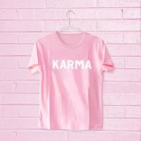 Tumblr Tee / T-Shirt / Kaos Wanita Lengan Pendek Karma Pink
