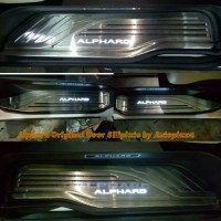 Toyota Alphard 2016+ Oem Stainless Led door scuff sill plate pintu