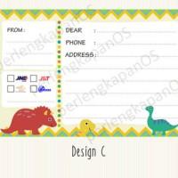 Stiker pengiriman | label cantik buat pengiriman toko online | D3