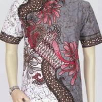Model Baju Batik Pria | Batik Kantor | Batik Modern Kantor Warna Abu2