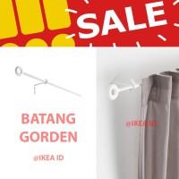 IKEA IRJA Set batang gorden lengkap 140 cm, putih