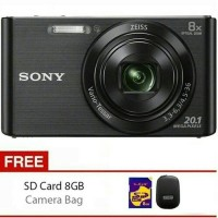 SONY DSC W830 Black/Silver +SDHC 8GB+CASE