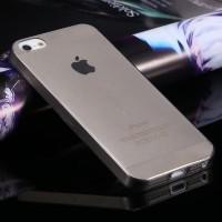 iPhone 5/5S/SE - Ultra Thin TPU Soft Case BLACK TRANSPARENT
