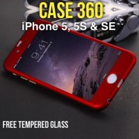 Jual CASE 360 Full Protective iPhone 5, 5S, SE HARDCASE FREE Tempered Glass Murah