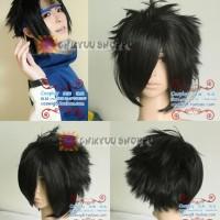 Cosplay Wig / rambut palsu hitam Sasuke Uchiha kecil NARUTO