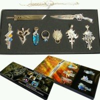 aksesoris set keychain liontin cincin kalung game final fantasy langka