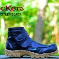 harga Murah !!! Sepatu Boots Pria Kickers Prepet Tanpa Tali Safety Hitam Tokopedia.com