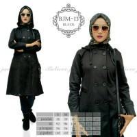 Jaket Muslimah Long Coat Believe BJM 13 Black