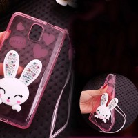 Rabbit Diamond Samsung Galaxy S5 / S6 edge thin Silicone soft case TPU