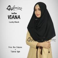 Jilbab Pashmina Instan Langsung Pakai Terbaru Viana Lucky Black