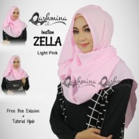 Jilbab Pashmina Instan Langsung Pakai Terbaru Zella Light Pink